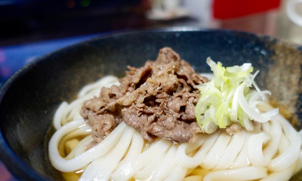 意外と簡単な肉うどん。肉の味付け方法
